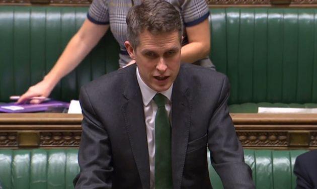 Education secretary Gavin Williamson speaking in the House of