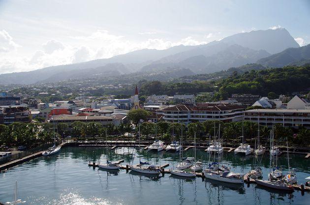 Une vue aérienne de Papeete à