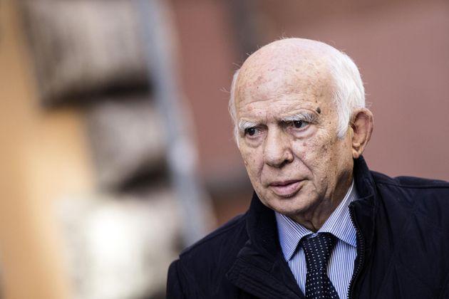Paolo Cirino Pomicino al convegno per No al referendum al residence Ripetta, organizzato dalle fondazioni...