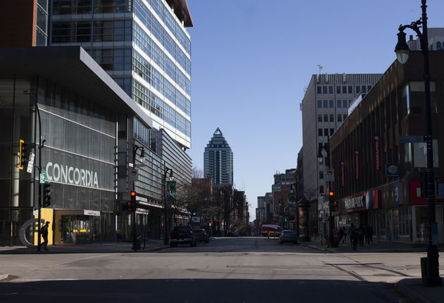 Concordia University is photographed in Montreal on March 27, 2020. The university says it is still finalizing...