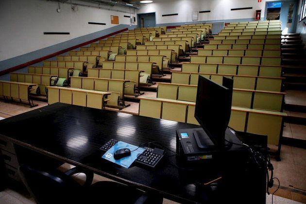Aula de la Facultad de Economía y Empresa de la Universidad de
