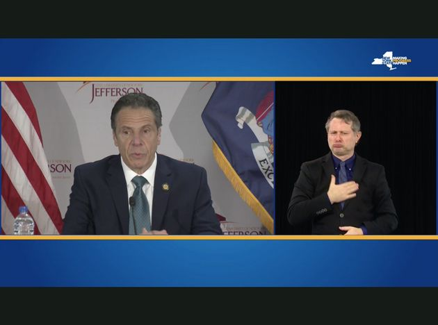 In May, New York governor Andrew Cuomo finally began providing an on-screen American Sign Language interpreter...