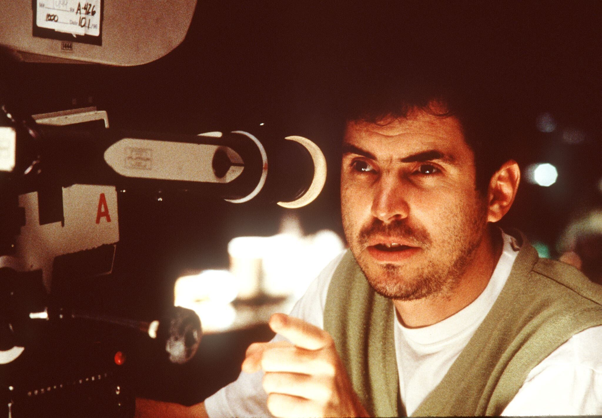"""Alfonso Cuarón on the set of """"Great Expectations,"""" released in 1998."""