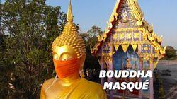 Des Bouddhas masqués pour encourager le port du masque en