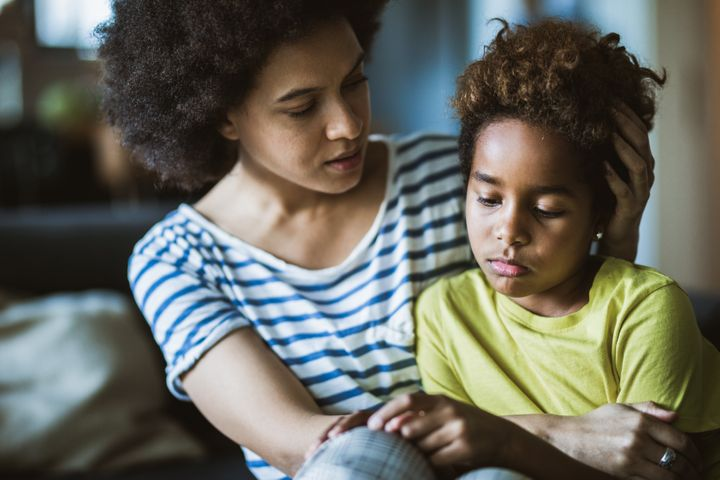 Parents should encourage their kids to talk about their feelings.