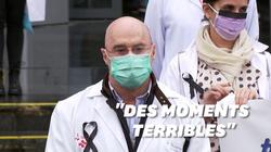 À Madrid, une minute de silence pour les soignants morts du