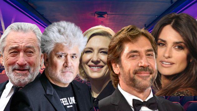 Robert De Niro, Pedro Almodóvar, Cate Blanchett, Penélope Cruz y Javier Bardem.