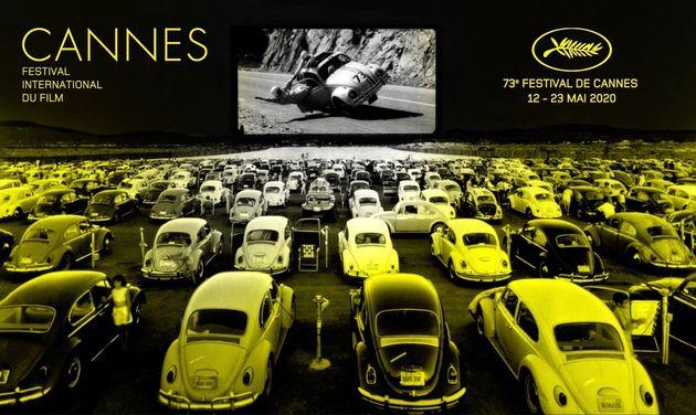 L'affiche non-officielle du Festival de Cannes 2020, annulé en raison du