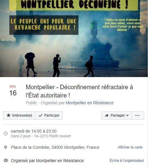 Les gilets jaunes ont appelé, via un événement Facebook, à manifester à Montpellier le 16
