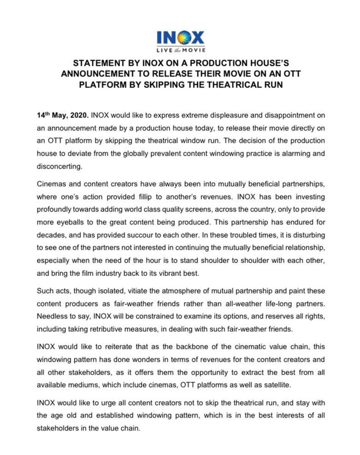 Inox Statement