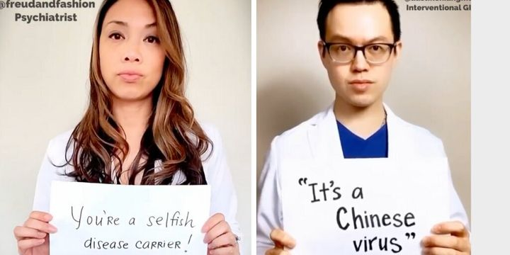 """Psychiatrist <a href=""""https://www.instagram.com/freudandfashion/"""" target=""""_blank"""" rel=""""noopener noreferrer"""">Vania Manipod</a>&nbsp;and physician Austin Chiang are among the participants in the video spotlighting racism spurred by the coronavirus pandemic."""