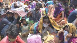 한 인도 임신부가 코로나19 탓에 길거리에서 아이를 낳은