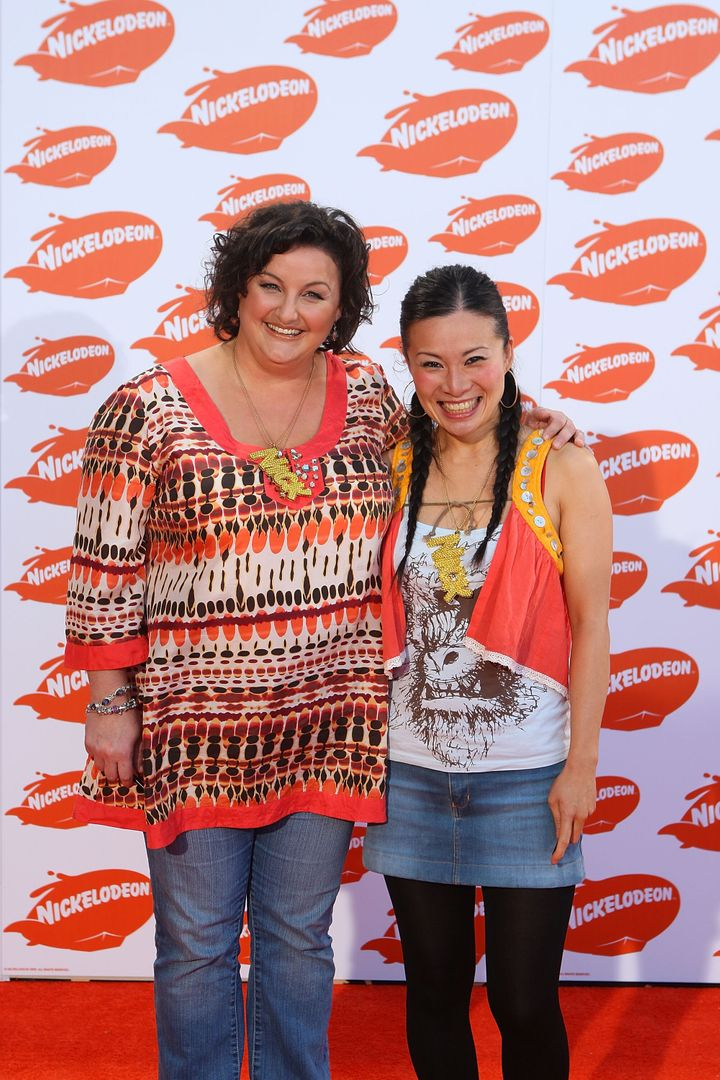 Julie Goodwin and Poh Ling Yeow arrive for the Australian Nickelodeon Kids' Choice Awards 2009 at Hisense Arena on November 13, 2009 in Melbourne, Australia.