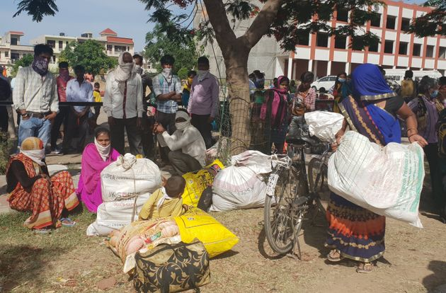 Over 2,000 migratory workers gathered near Chandigarh International Airport at Sohana village on Friday...