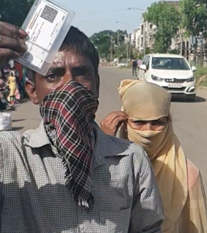 Construction worker Vijay Kumar and his wife Jyoti were searching for their two minor daughters at Sohana village near Chandigarh International Airport on Friday.