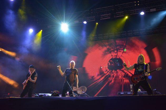 Οι Deep Purple στην σκηνή κατά την περιοδεία με τίτλο «Hell and Heaven 2020», στις 14 Μαρτίου, στην πόλη της Τολούκα στο Μεξικό.