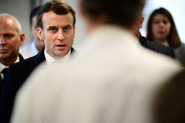 Le président Emmanuel Macron s'était déjà rendu à l'hôpital de la Pitié-Salpétrière fin février (notre...