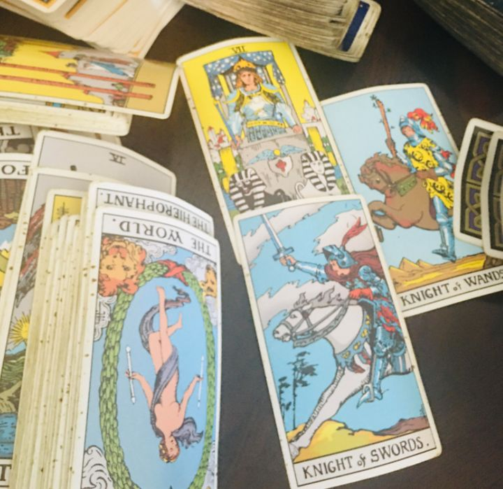 A selection of tarot cards from the author's collection of decks.