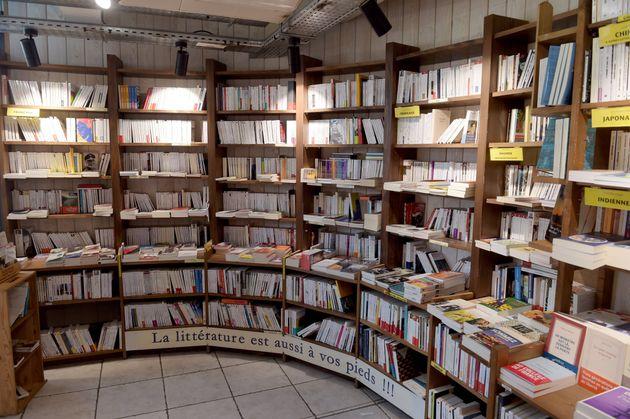 Dans une librairie fermée de Montreuil (Seine-Saint-Denis), le 6 mai