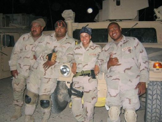 Duffy deployed in Iraq in 2005, getting briefed before a mission.