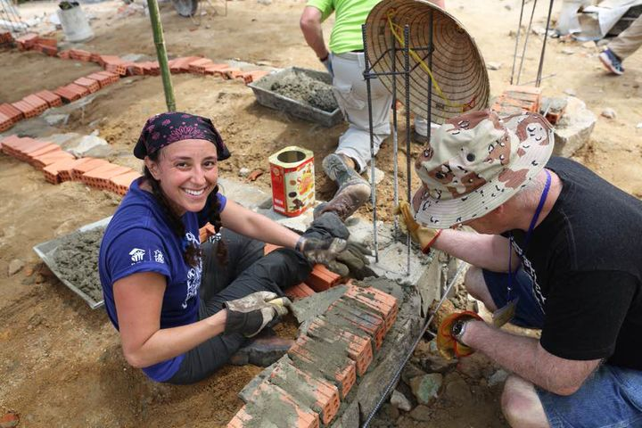 Duffy worked with Race2Rebuild to help individuals who were impacted by Hurricane Sandy. Her volunteer work led Duffy to join Team Rubicon, where she eventually held leadership positions.