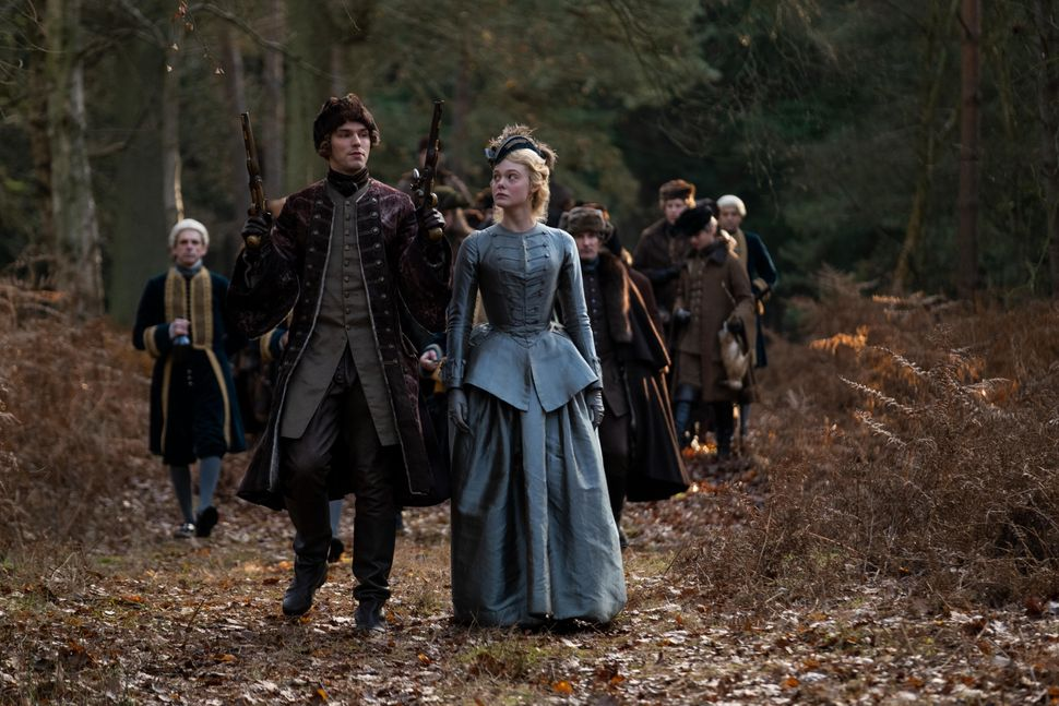 """Nicholas Hoult and Elle Fanning in """"The Great."""""""