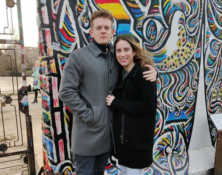 The author and Julien in Berlin in late February – their first (and last) vacation together before France closed its borders due to the coronavirus pandemic.