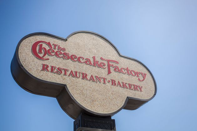 The sign for a Cheesecake Factory