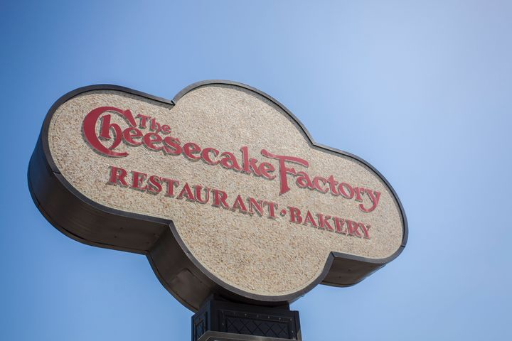 The sign for a Cheesecake Factory restaurant.
