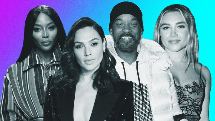 Left to right: Naomi Campbell, Gal Godot, Will Smith and Florence Pugh.