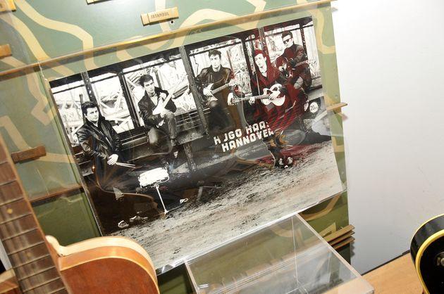 Une photographie prise par Astrid Kurchherr des Beatles à leurs