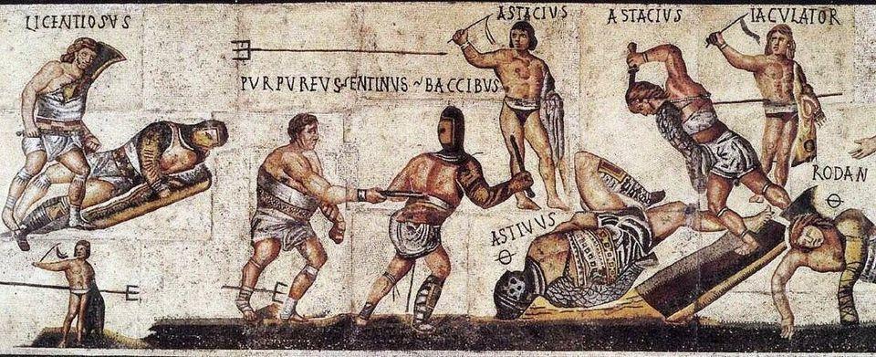 Τοιχογραφία στη Βίλα Μποργκέζε. Όπου υπάρει το ελληνικό γράμμα Θ ο καλλιτέχνης υπονοεί τον θάνατο του...