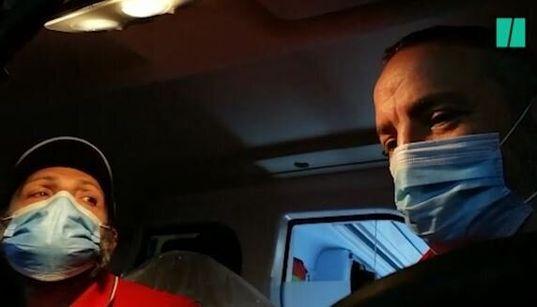 Sull'ambulanza a Bergamo con Marco e Roberto: