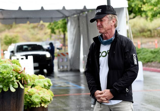 In this April 9, 2020 photo, actor and activist Sean Penn, founder of the nonprofit organization Community...