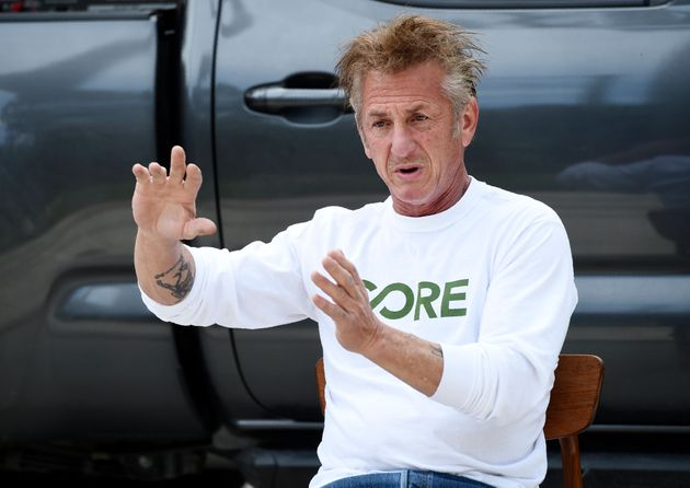 In this April 8, 2020 photo, actor and activist Sean Penn, founder of the nonprofit organization Community...