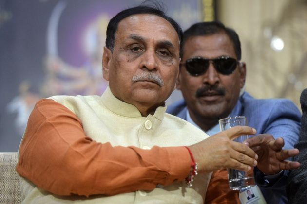 Gujarat Chief Minister Vijay Rupani in a file photo. Media reports say he has been under increasing pressure...