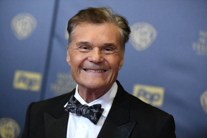 Fred Willard poses in the press room at the 42nd annual Daytime Emmy Awards at Warner Bros. Studios on April 26, 2015, in Bur