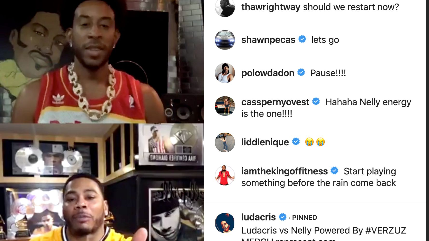 Ludacris And Nelly Battle It Out On Instagram Live | HuffPost