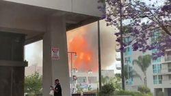 ロサンゼルスで爆発・リトルトーキョー近く 消防士が負傷