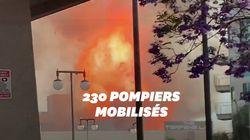 Un impressionnant incendie dans le centre-ville de Los Angeles fait 11
