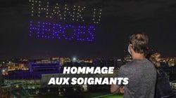À Nashville, un spectacle de drones pour remercier les