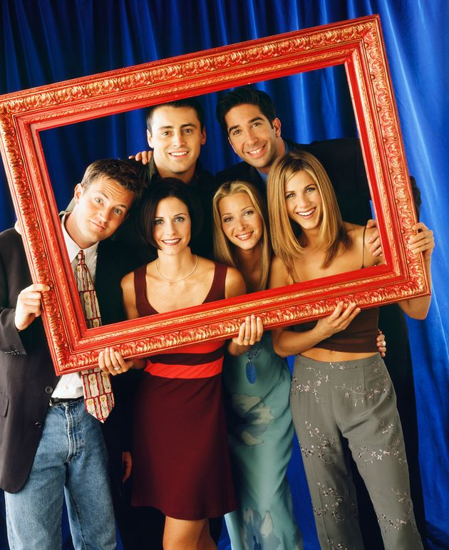 The cast of Friends pictured in the