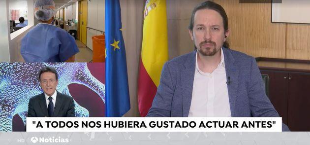 Pablo Iglesias y Matías Prats en Antena