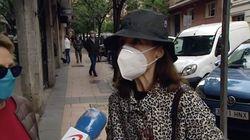 Una manifestante contra el Gobierno: