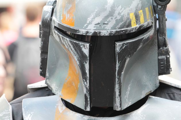 Un fan disfrazado de Boba Fett,personaje de 'Star