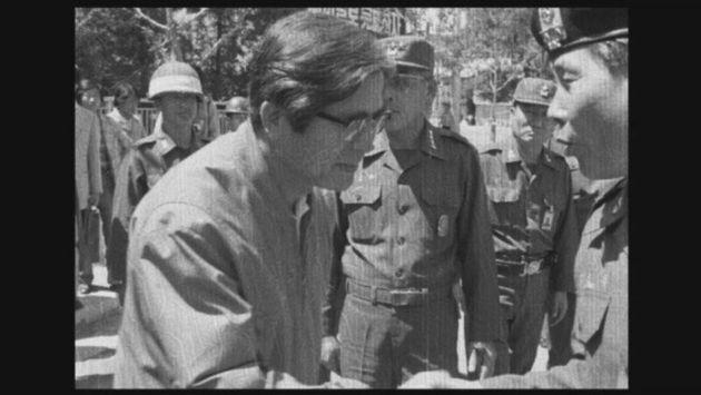 1980년 5·18 진압작전 이후 전남도청 앞 정호용 특전사령관. 5·18기록관