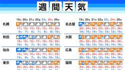 【今週の天気】東京は曇りや雨、西日本は晴天が続く