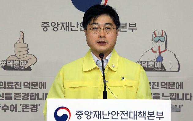 윤태호 중앙사고수습본부 방역총괄반장. 2020. 5.