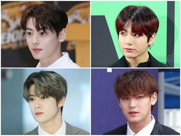 아스트로 차은우, 방탄소년단 정국, 세븐틴 민규, NCT 재현