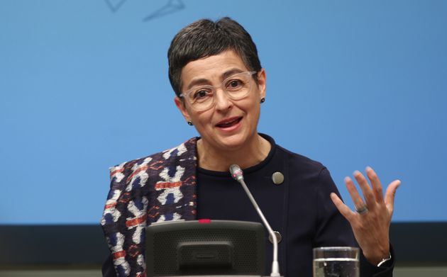 La ministra de Asuntos Exteriores, Arancha Gonzalez Laya, el 9 de marzo de 2020 en Madrid (Eduardo Parra/Europa...